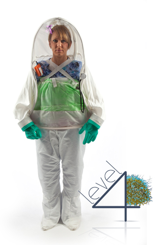 Ebola Personal Biohazard Protective Apparel for healthcare workers, doctors, and nurses working with patients infected with the Ebola virus and other Level 3 and 4 Biosafety level diseases.